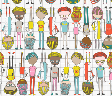 FunTaches fabric by majobv on Spoonflower - custom fabric