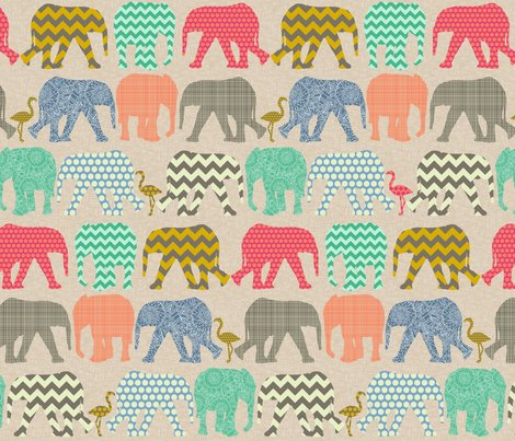 Rrrrrrrrlinen_baby_elephants_and_flamigos_st_sf_shop_preview