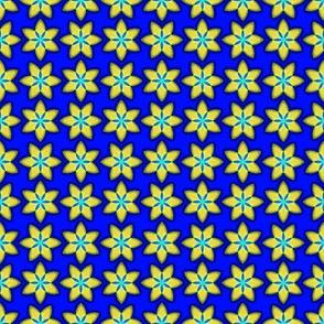 Yellow Stars on Blue