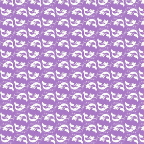 Mermaid Starfish Waves Purple