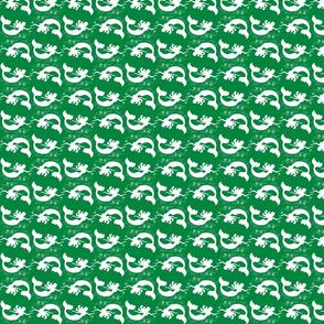 Mermaid Starfish Waves Green