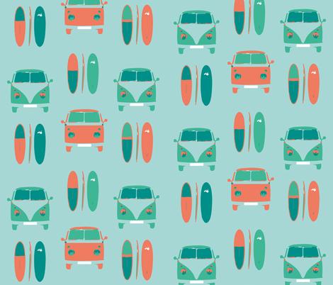 CAMPER VAN SURF fabric by gemmacosgroveball on Spoonflower - custom fabric