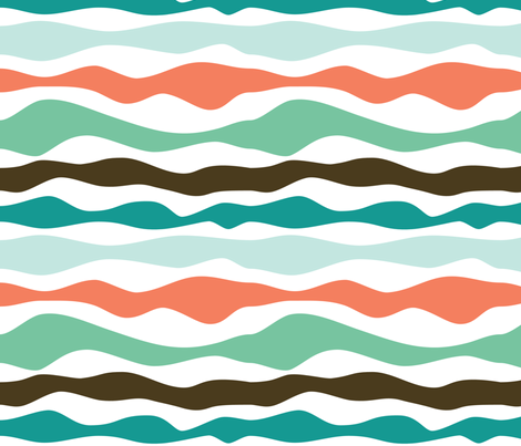 Waves fabric by j-i-l-l on Spoonflower - custom fabric