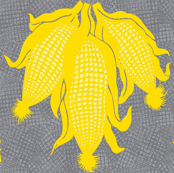 corn yellow on grey.