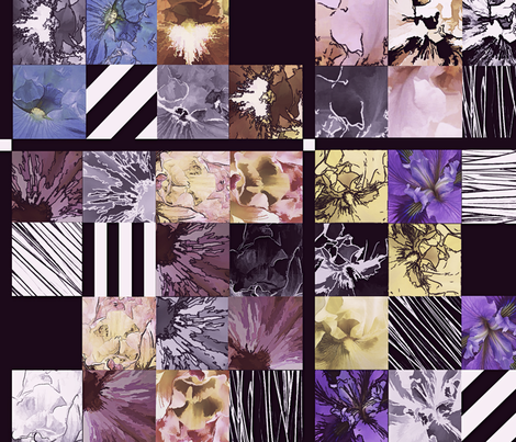 Iris_Faux_Quilt_9_ fabric by lulutigs on Spoonflower - custom fabric