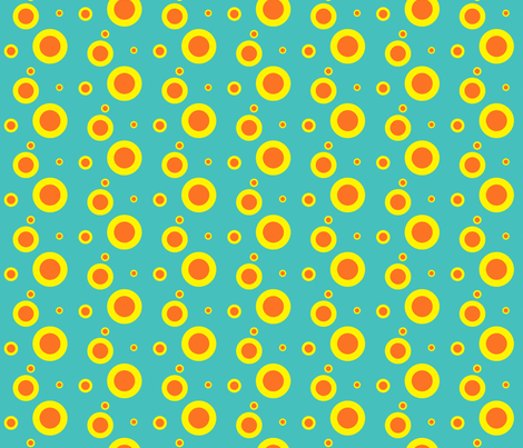 Greasepaint spots - Turquoise fabric by moirarae on Spoonflower - custom fabric