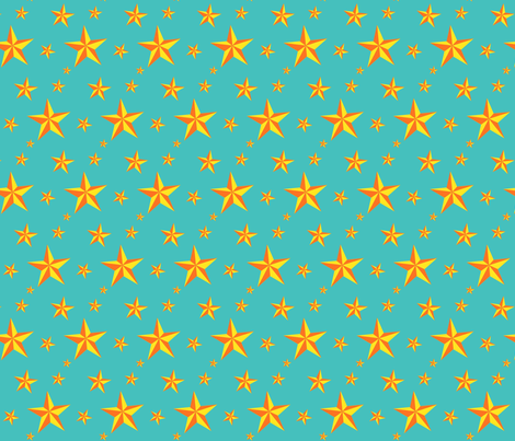 Stars in your eyes - Gold fabric by moirarae on Spoonflower - custom fabric