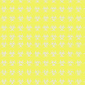 Biohazard yellow light gray