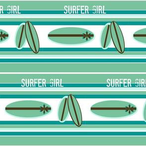 Retro Surfer  Blue - Surfer Girl