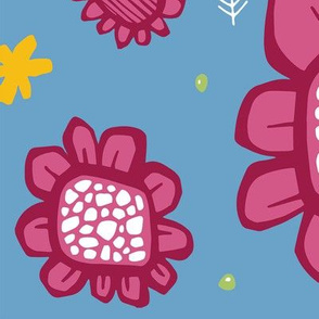 Pop Flowers pink