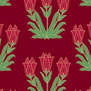 Ancient Carpet Flowers VII.