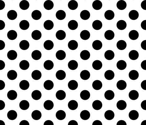black dots on white large fabric by whimzwhirled on Spoonflower - custom fabric