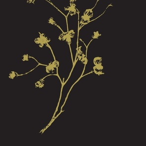 Dogwood Black and Tan by Linda Miller-ch