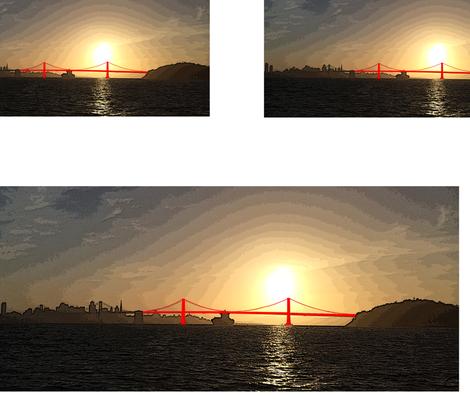 Bay Bridge, San Francisco fabric by cison on Spoonflower - custom fabric
