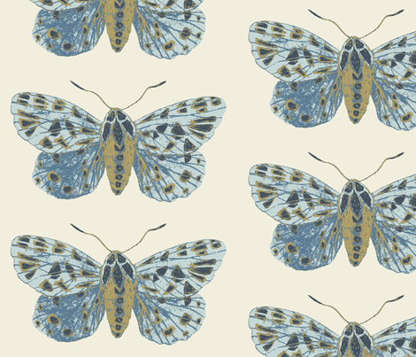 Tiger Moth Pearlwood fabric by gollybard on Spoonflower - custom fabric