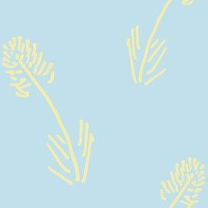 Butter Yellow Wheat on Sky Blue