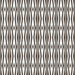 Tribal Arrowhead Stripe -- in taupe on white