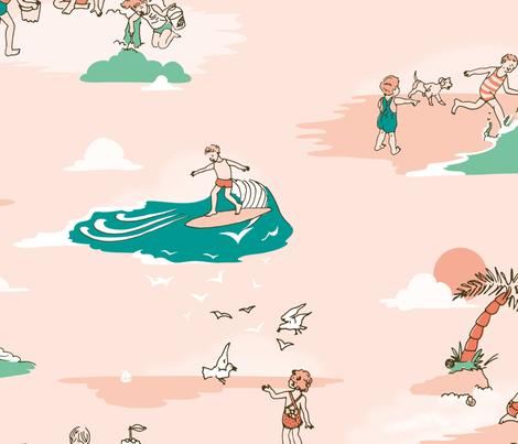 Vintage Surf Kids fabric by elliewhittaker on Spoonflower - custom fabric