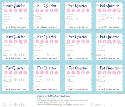 Fat Quarter Style Quilt Labels