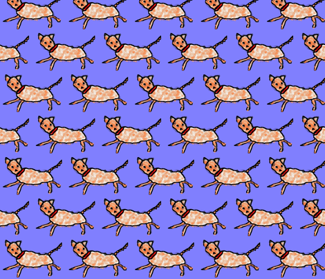 cave painting dog (re-upload) fabric by dvora on Spoonflower - custom fabric