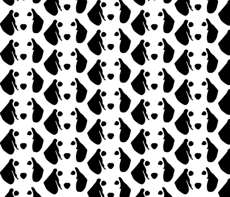 dachshund small B&W fabric by mariafaithgarcia on Spoonflower - custom fabric