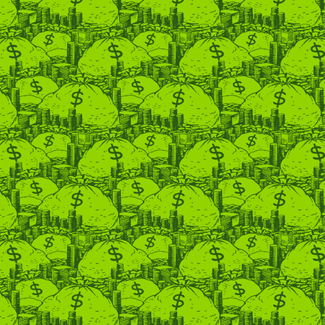 Moneybags fabric by ben_goetting on Spoonflower - custom fabric