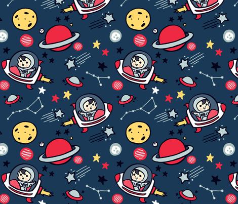 Cosmic Voyage fabric by kiaramcgruder on Spoonflower - custom fabric