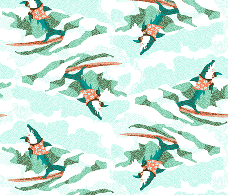 Big Kahuna Shark fabric by eclectic_house on Spoonflower - custom fabric