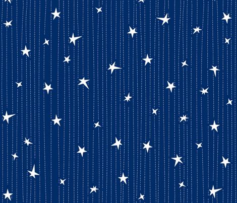 Stars & Stitches fabric by bluebirdworkshop on Spoonflower - custom fabric