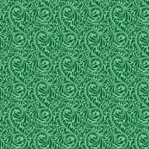 Leafy Swirl - 2in (dark green)