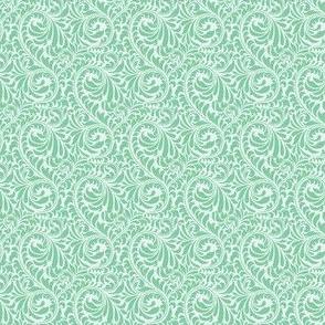 Leafy Swirl - 2in (light green)