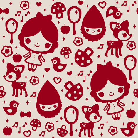 Snow White fabric by emandsprout on Spoonflower - custom fabric