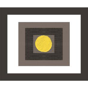 Big Yellow Dot Framed