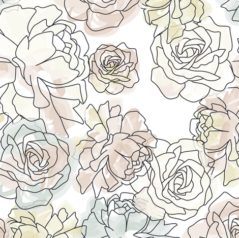 Abstract-Watercolor-Flowers5 fabric by zoetdesign on Spoonflower - custom fabric