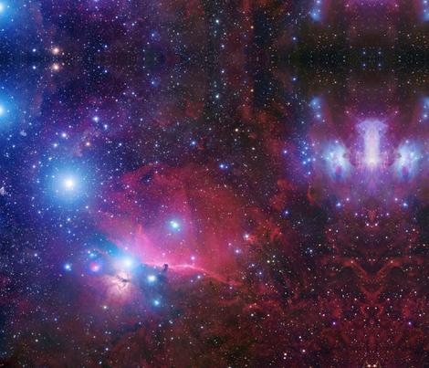 Purple galaxy fabric aspie giraffe spoonflower for Galaxy material fabric