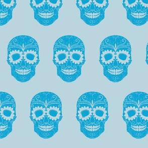Mexican Skull Blue