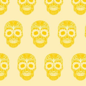 Mexican Skulls Yellow