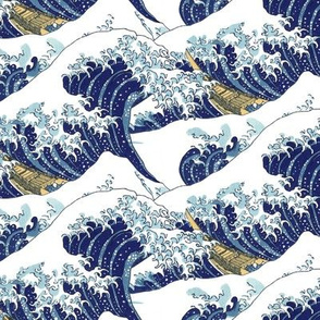 "the lesser waves of Hokusai (10"")"