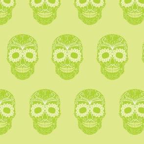 Mexican Skull Green