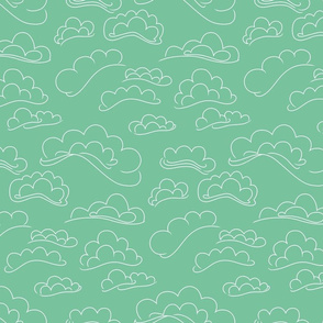 Clouds on Sea Green.