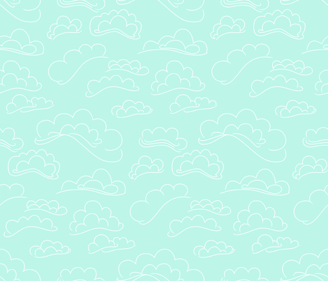 Clouds in the Sky. fabric by house_of_heasman on Spoonflower - custom fabric