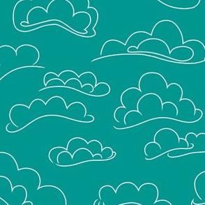 Teal Clouds.