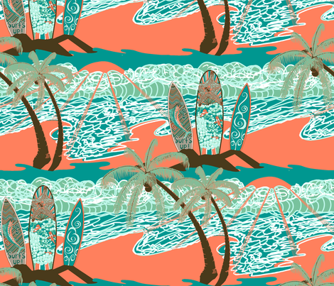 Late Afternoon Surf! fabric by art_on_fabric on Spoonflower - custom fabric