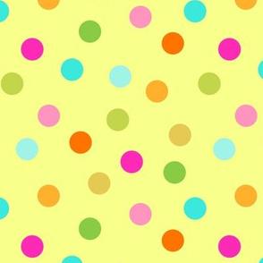 confetti dots on yellow