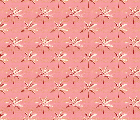 Pink Palms fabric by designed_by_debby on Spoonflower - custom fabric