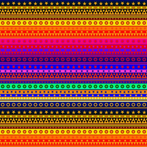 Rainbow Stripes Pattern