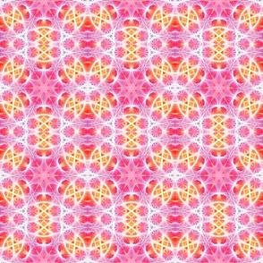 Pink Hippie Fractal Pattern