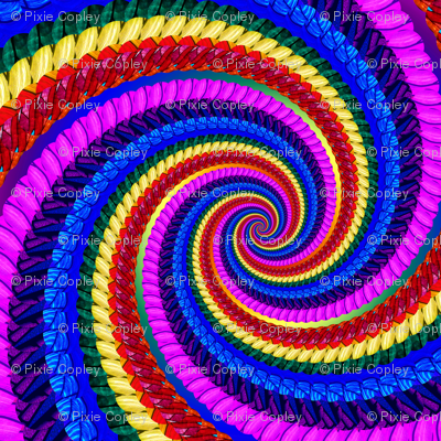 Rainbow Psychedelic Spiral Fractal Pattern