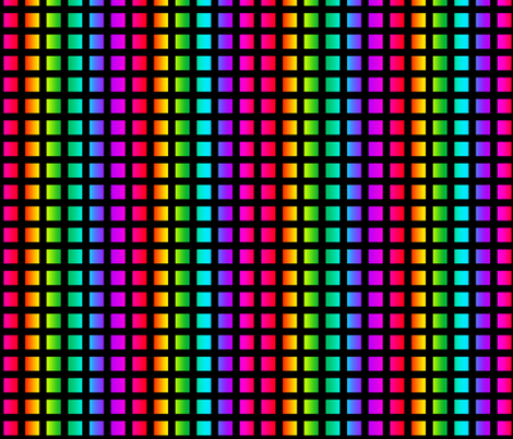 Rainbow Squares Pattern Fabric Hippygiftshop Spoonflower