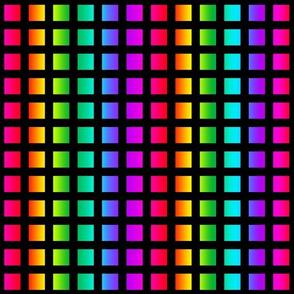 Rainbow Squares Pattern